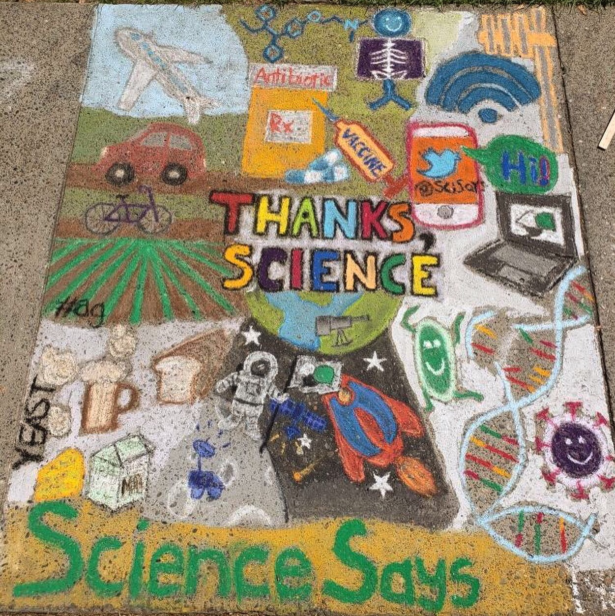 Photo of Thanks Science Art