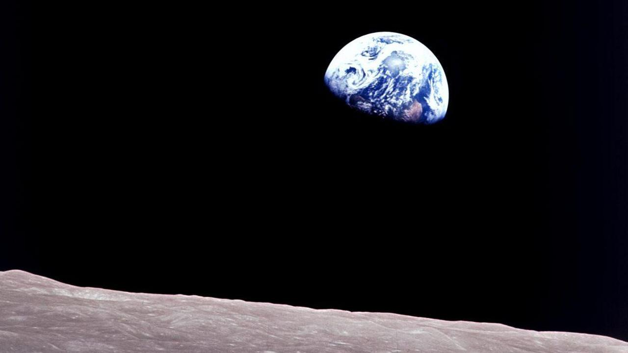 Earth from the surface of the moon