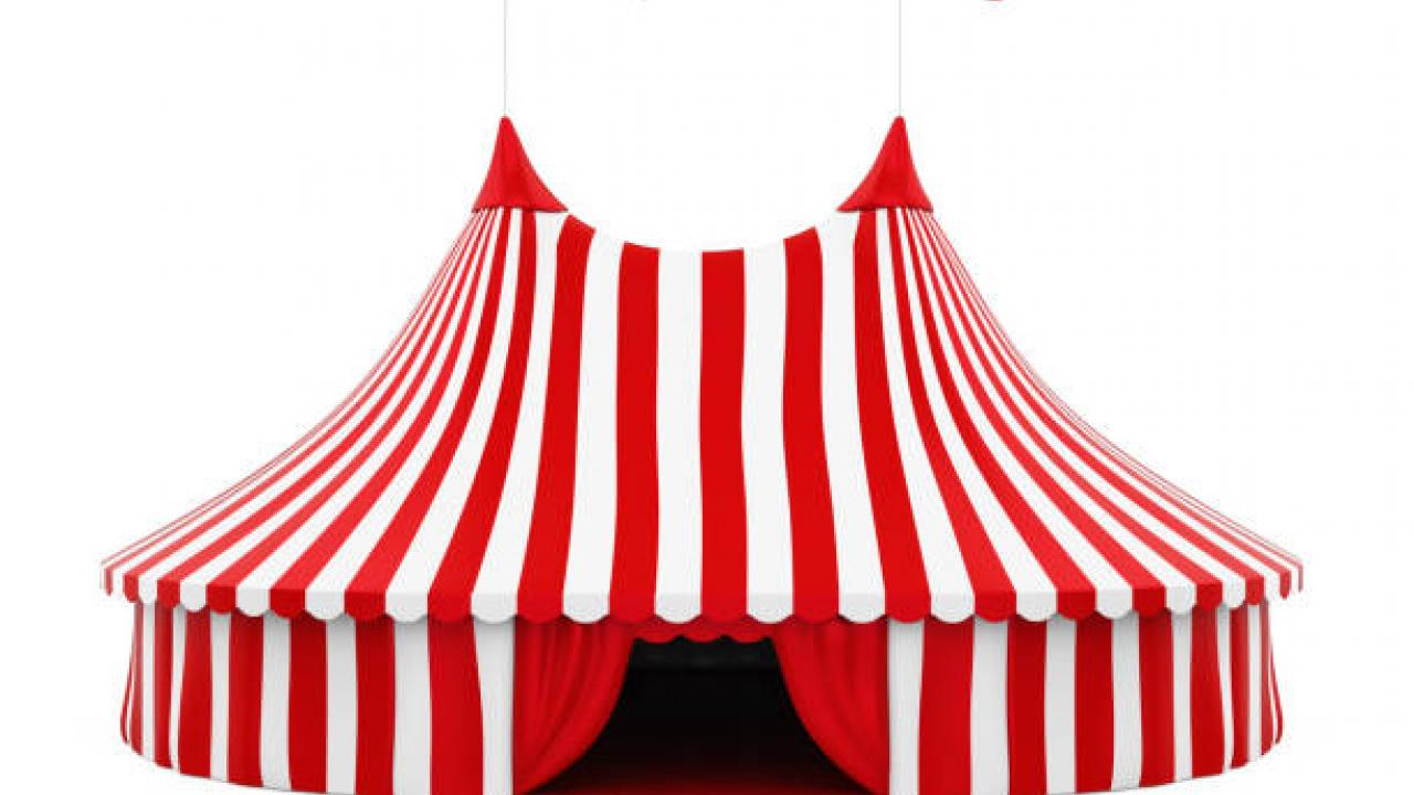 striped circus tent