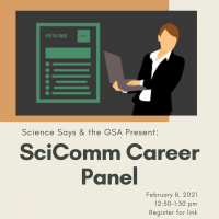 SciComm Career Panel square information